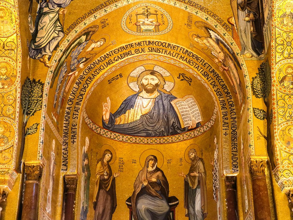Interior Capilla Palatina en Sicilia