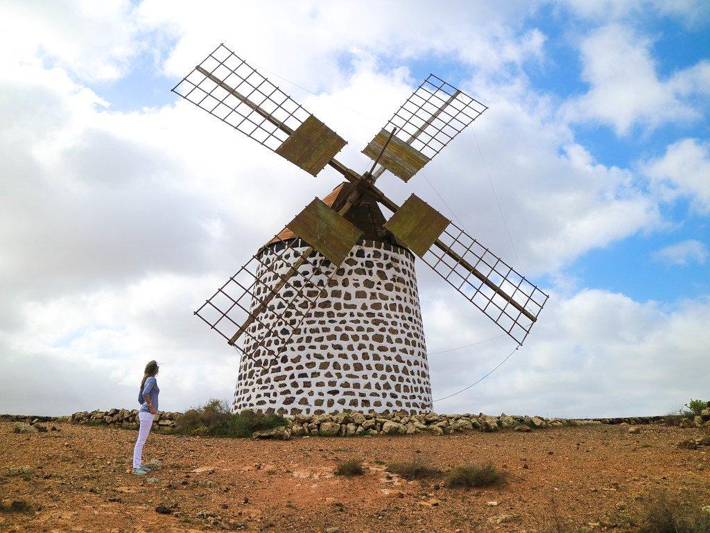 Molinos de Villaverde en Fuerteventura