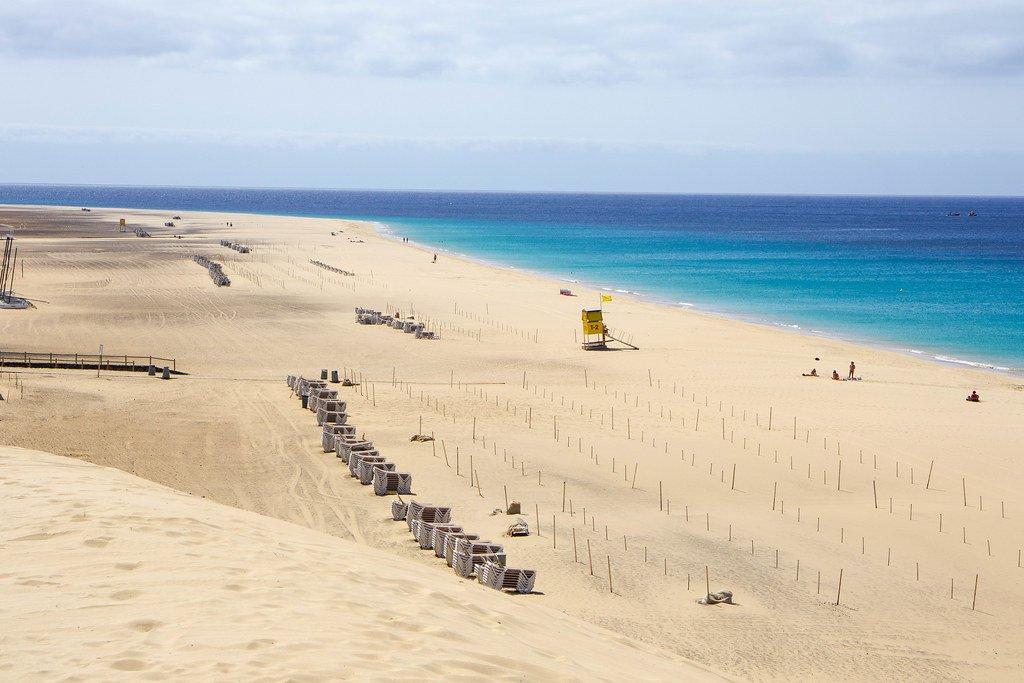 Playa de Morro Jable en Jandía