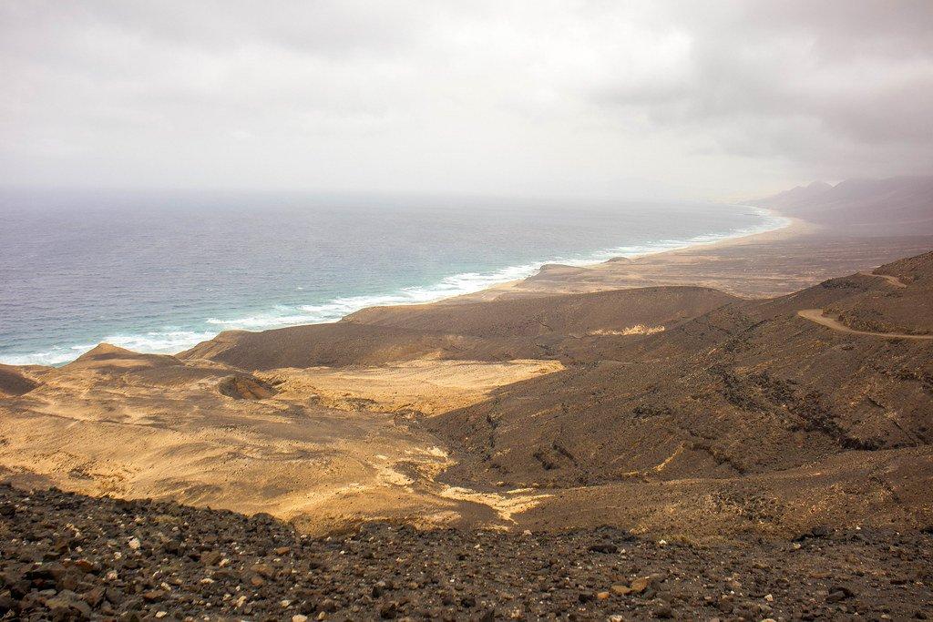 Vista de la playa de Cofete desde el mirador Agua Oveja