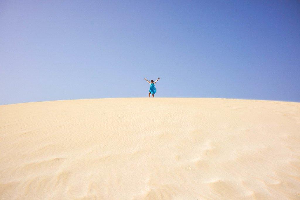 Parque natural de las Dunas de Corralejo en Fuerteventura