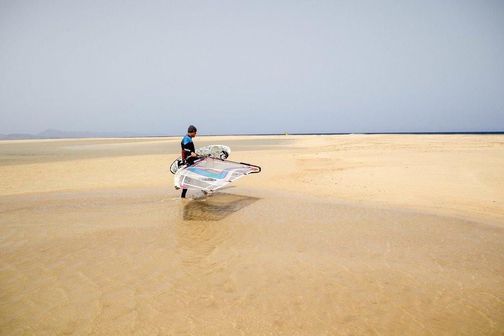 Kitesurf en la playa de Sotavento