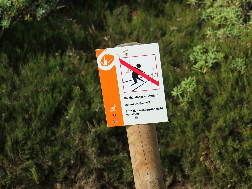 Señales en isla de Lobos