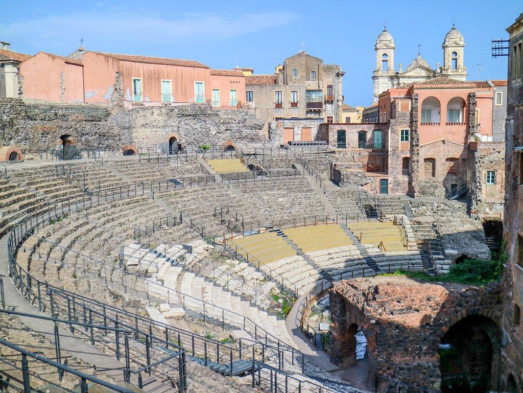 Visitar el Teatro romano en Catania