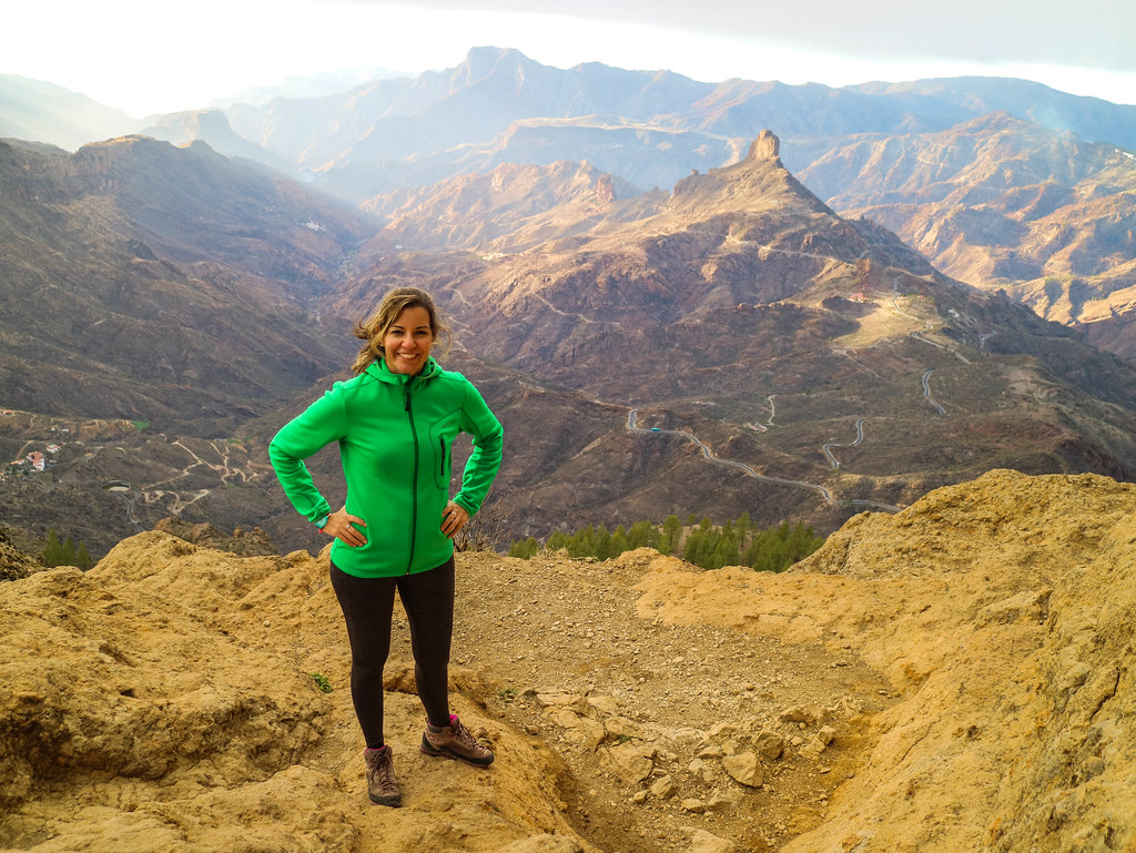 Vista del Roque Bentaiga desde El Nublo en Gran Canaria