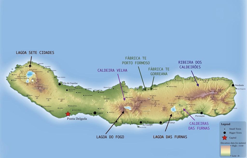 Mapa de São Miguel