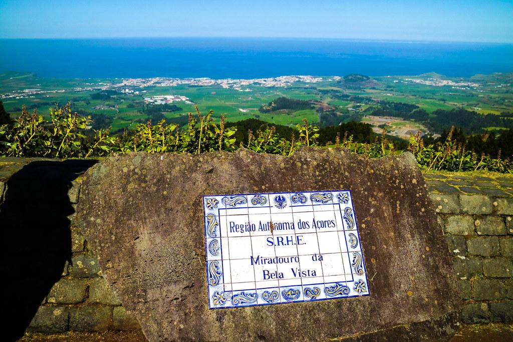 Miradouro Vista Bela en la isla de Sao Miguel