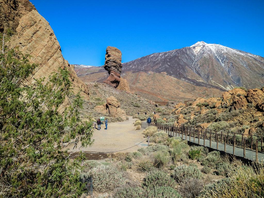 Los Roques de Garcia es uno de los miradores del Parque Nacional del Teide