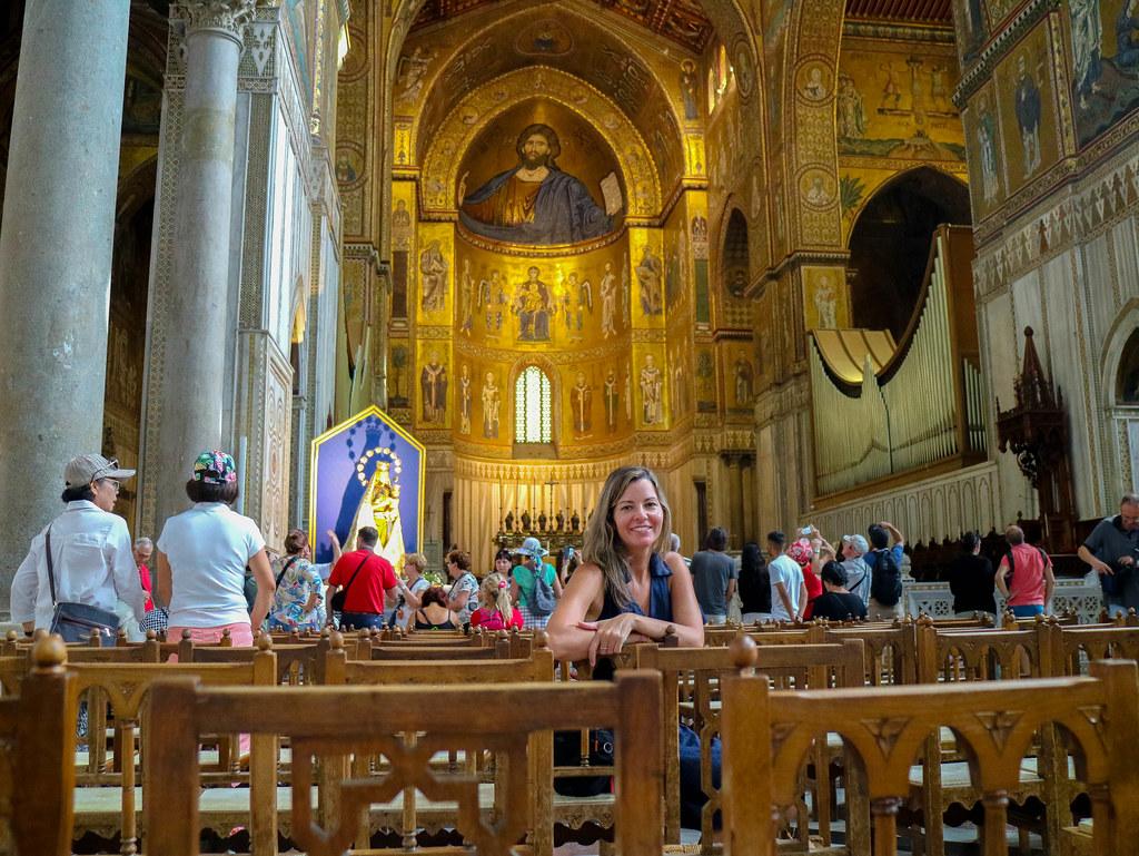 Visita al interior de la Catedral de Monreale