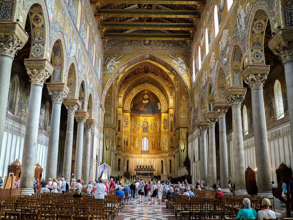 Nave central de la Catedral de Monreale