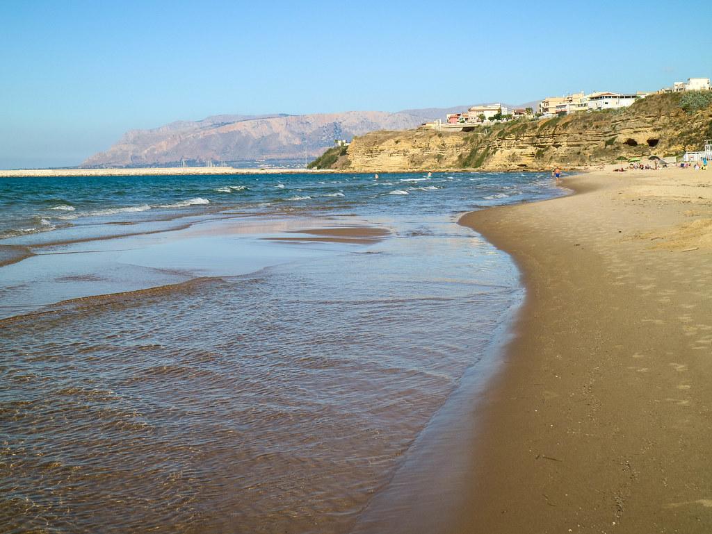 Playa Balestrate cerca de Palermo
