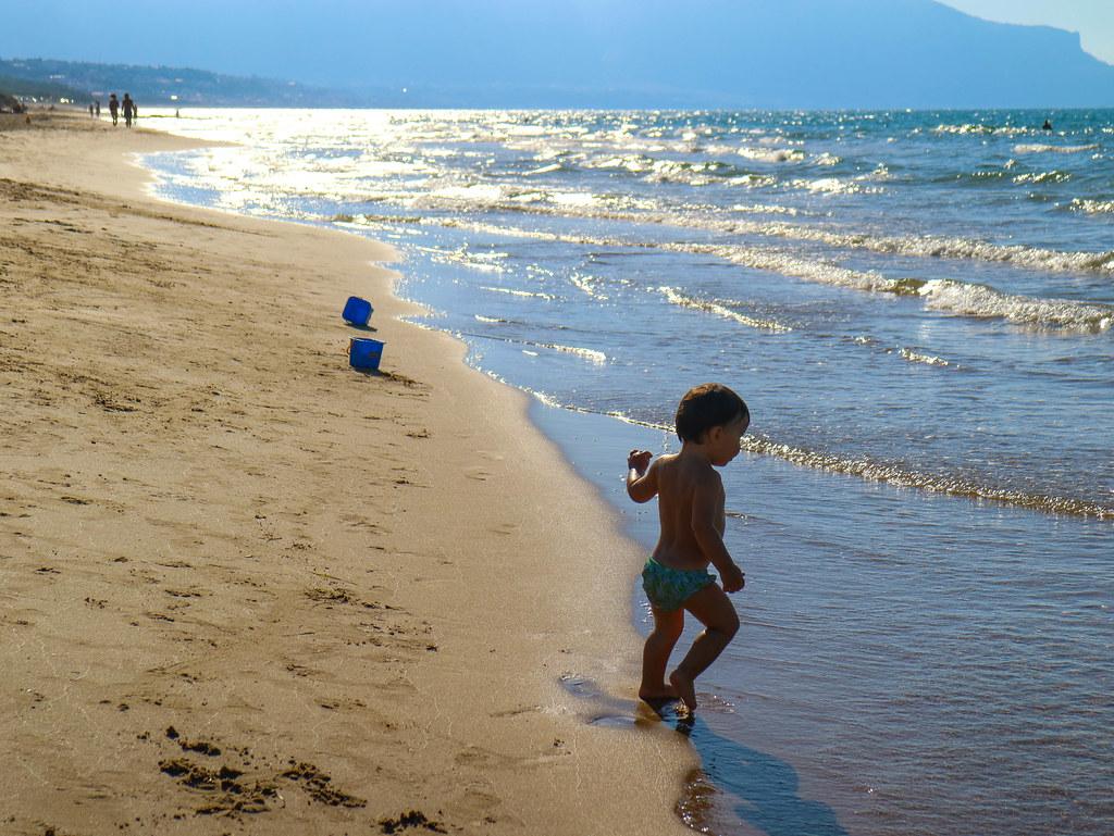 Playa de Balestrate en Sicilia