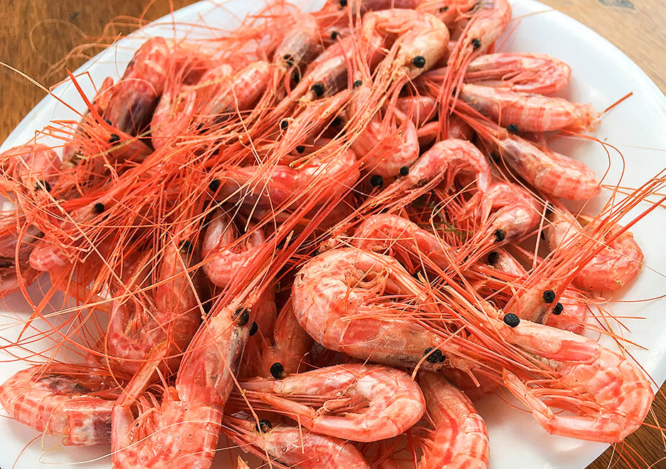 Los camarones son un entrante típico en Canarias
