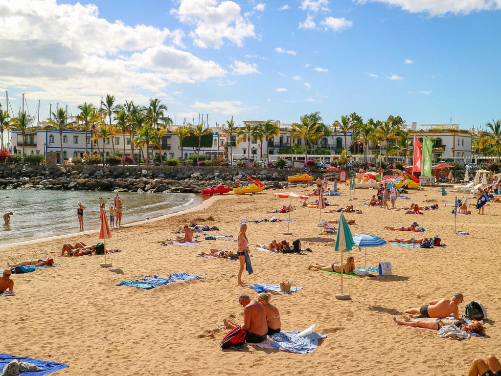 Playa de Mogán en Gran Canaria