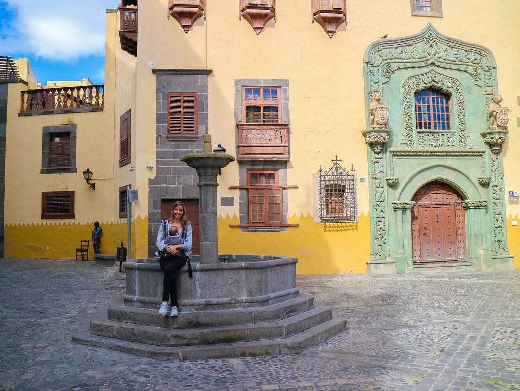 Exterior de la casa de Colón en las Palmas de Gran Canaria