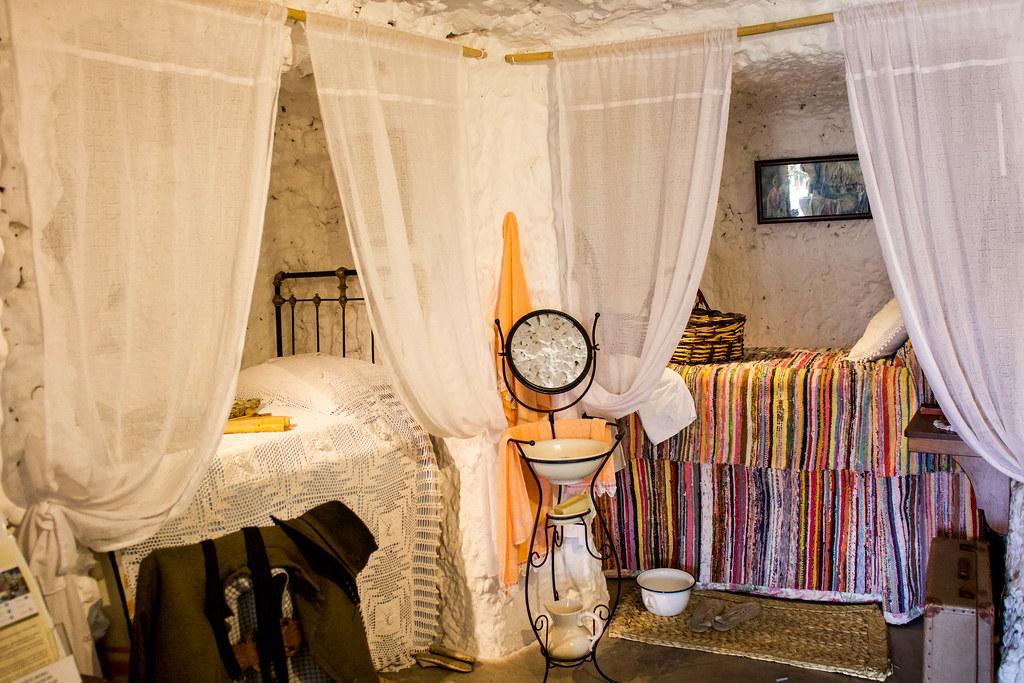 Interior de una de las cuevas del museo casas-cueva de Artenara