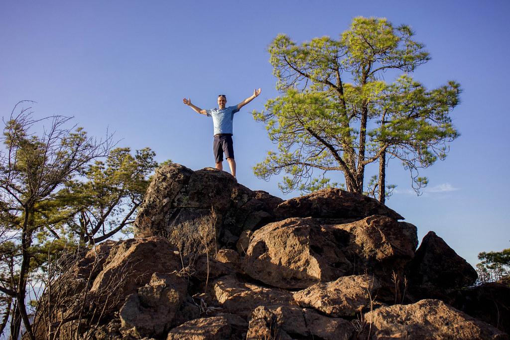Punto más alto de la montaña de Altavista en Artenara