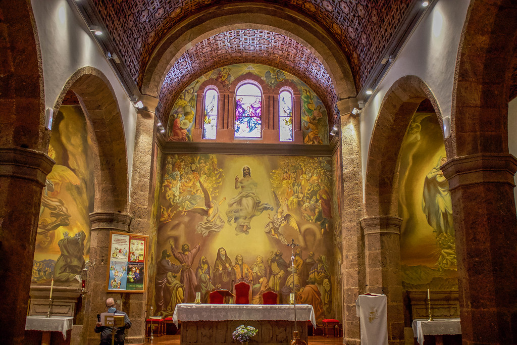 Interior de la iglesia de San Matías en Artenara