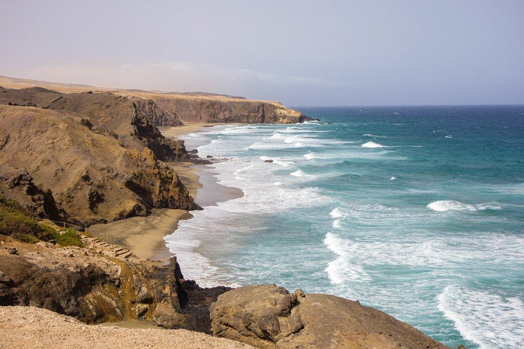 Playa del Viejo Rey en La Pared en Fuerteventura