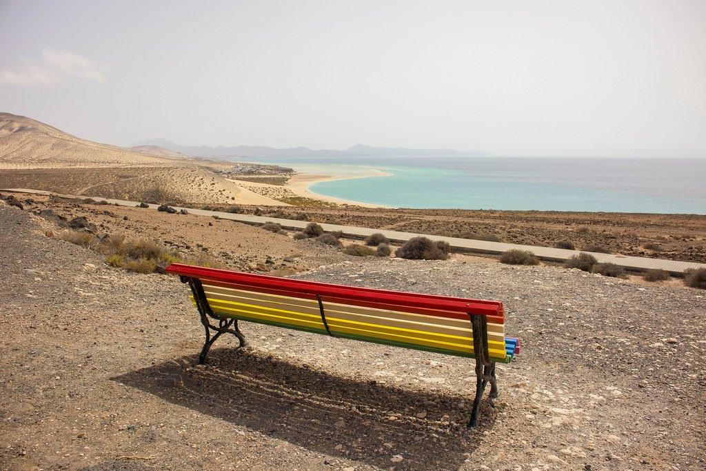 Mirador El Salmo en Fuerteventura con vistas a Sotavento