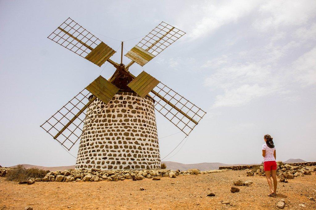 Molino de Villaverde en la isla de Fuerteventura