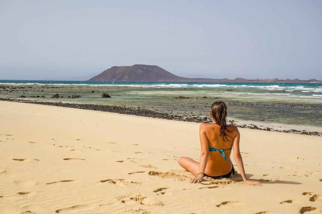 Playa El Pozo y Lobos en Fuerteventura