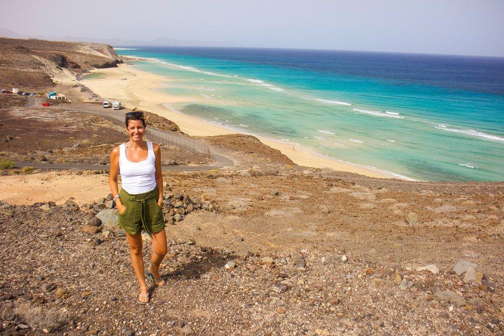 Playa del Mal Nombre en el sur de Fuerteventura