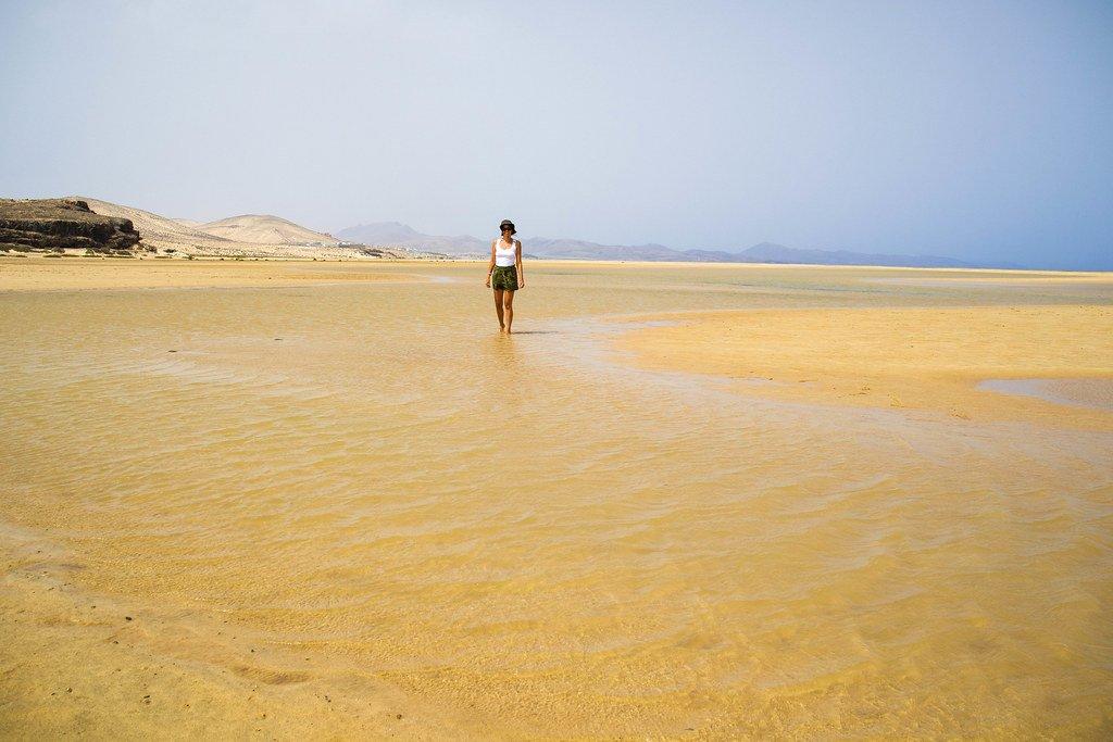 Charcos en la playa de Sotavento de Jandía
