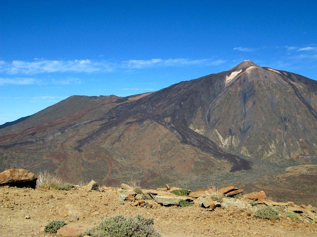 Teide y Pico Viejo desde Guajara