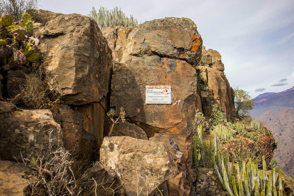 Roque del Conde, caminando hacia el refugio del último mencey