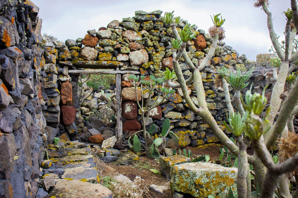 Casa de piedra tradicional canaria
